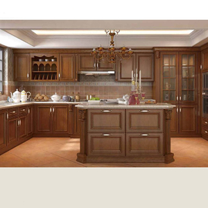 New Design China Soild Wood Kitchen Cabinet Six Modern