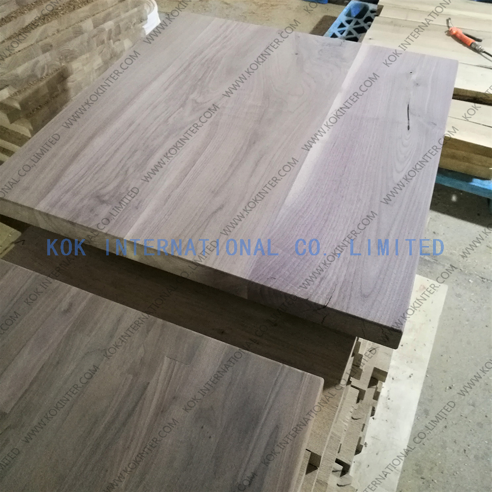 Dulex walnut edge glued board/panel EGP butcher worktop tabel top countertop