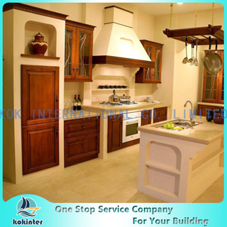 Modern Modular Style Solid Wood Kitchen Cabinet