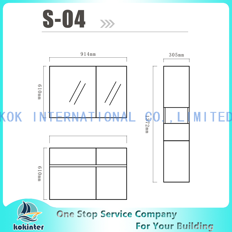 Bathroom cabinet Vanity set S04