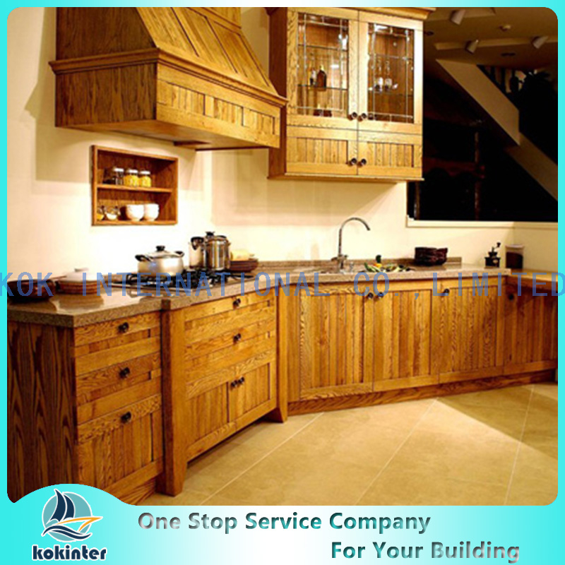 America Style Solid Wood Kitchen Cabinet