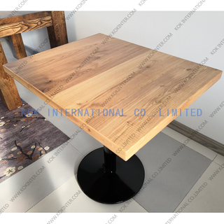Square solid wood coffee table butcher worktop countertop